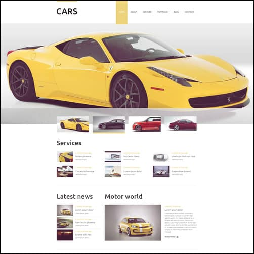 Vehicles Business Drupal Template