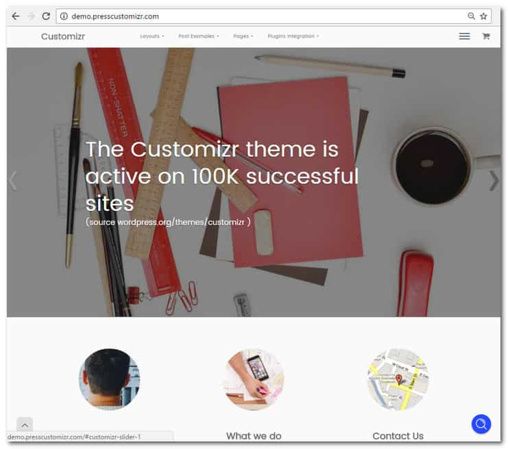 customizr homepage
