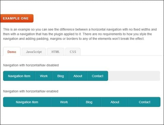 horizontalnav a cool jquery plugin that makes a nav menu fit into its container