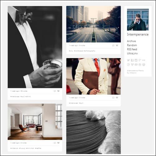 intemperance tumblr theme