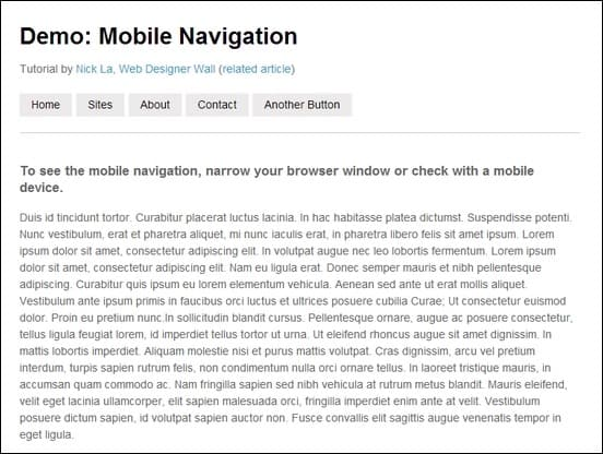 a responsive mobile navigation tutorial