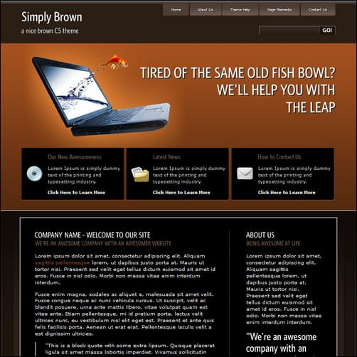 simply brown c5 theme