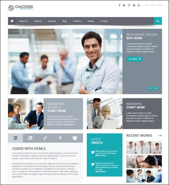 15 best wordpress business themes 2016 cacoon business wordpress theme flashek