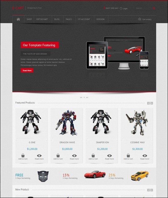 E-Car-Responsive-VirtueMart-e-Commerce-Template