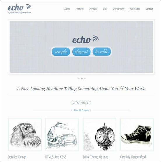 Echo: Clean and Creative WordPress Portfolio Theme