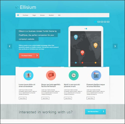 Ellisium - A Business Minded Tumblr Theme