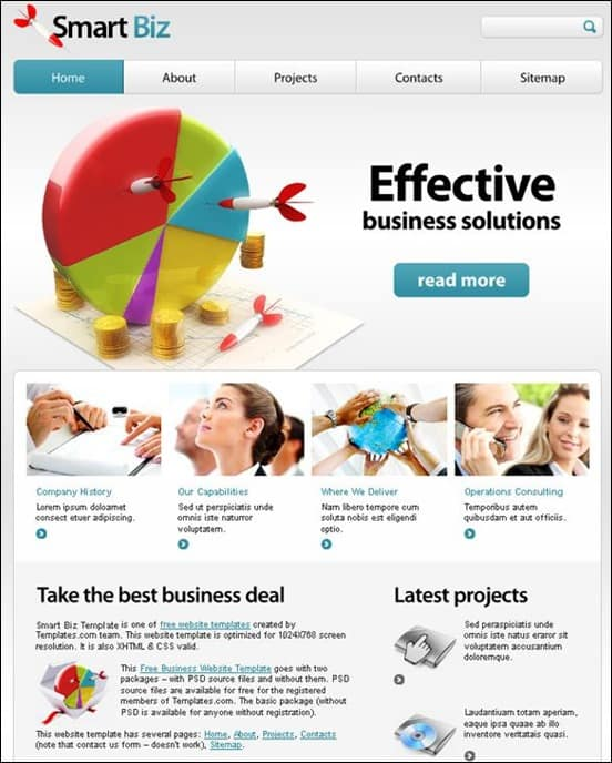 30 great ready to use corporate html website templates free business website template wajeb Gallery