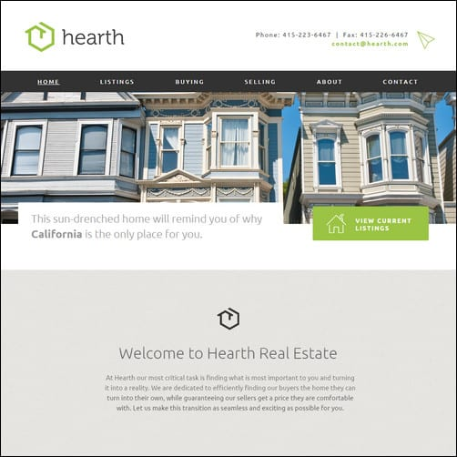 Hearth Real Estate Adobe Muse Theme