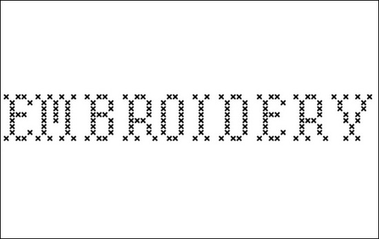 Embroidery Font...