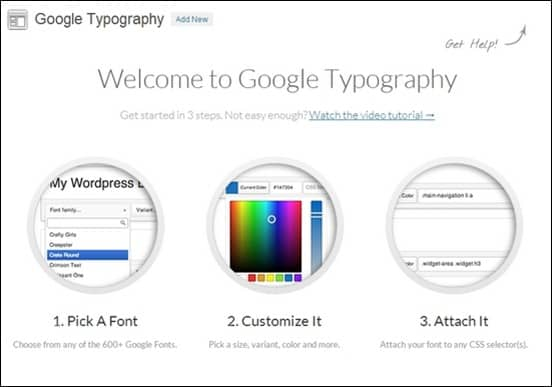 Google-Typography-Settings-Page