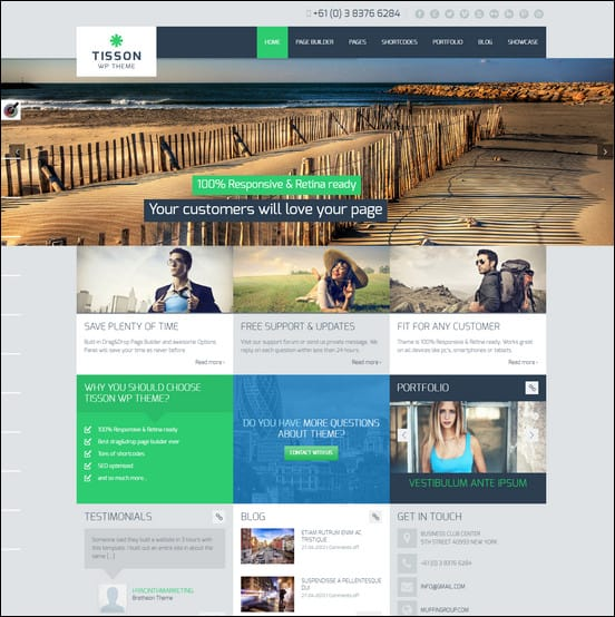 Tisson Premium WordPress Theme