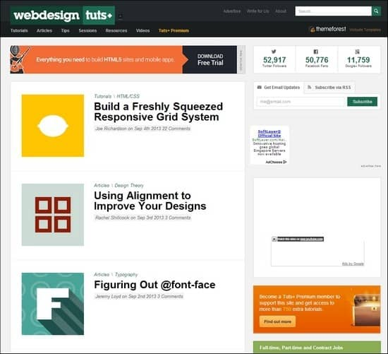Webdesigntuts+ is a blog made to house and showcase some of the best web design tutorials and articles around.