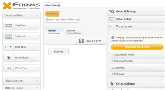 X Forms – A WordPress Form Creator Plugin