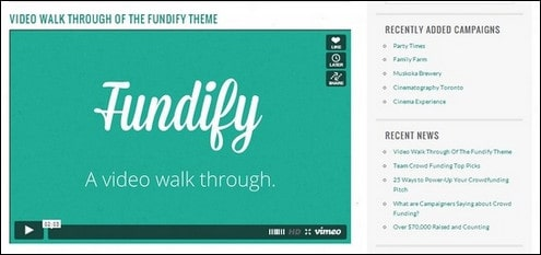 Fundify – Crowdfunding WordPress Theme