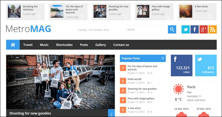 20+ Best Responsive WordPress Magazine Themes