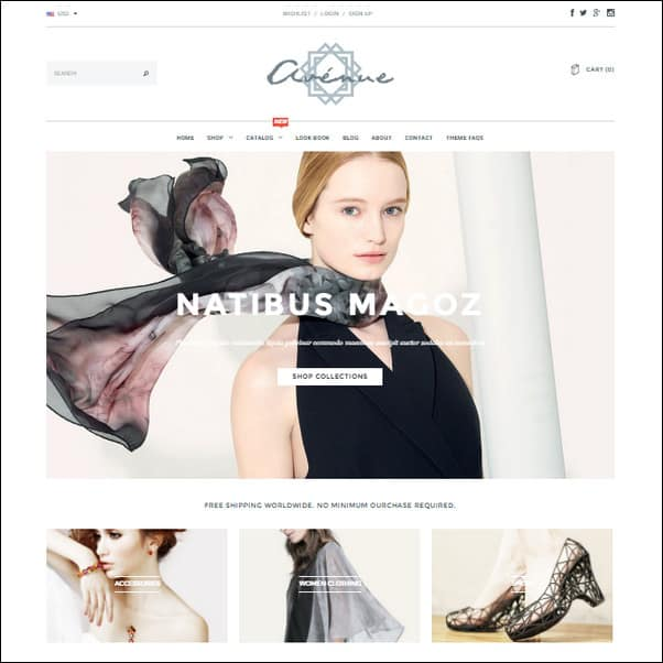 Avenue Responsive Shopify Theme