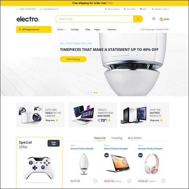 Electro Gadgets and Digital Responsive Shopify Theme