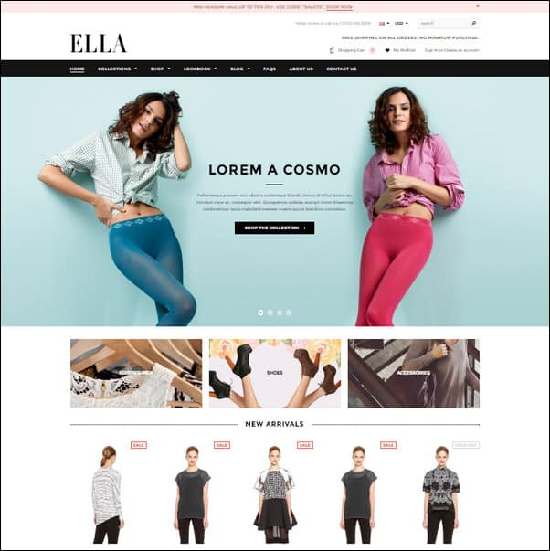 20 best shopify themes crush your competition in 2017 ella responsive shopify template pronofoot35fo Image collections