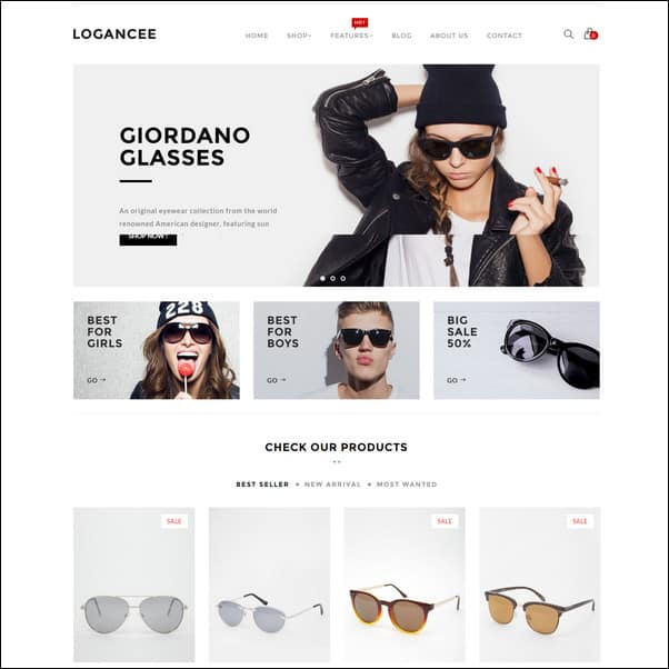 Logancee Responsive eCommerce Shopify Theme