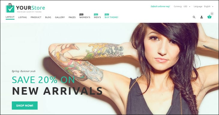 20 Best Shopify Themes of 2016 That Crush Your Competition
