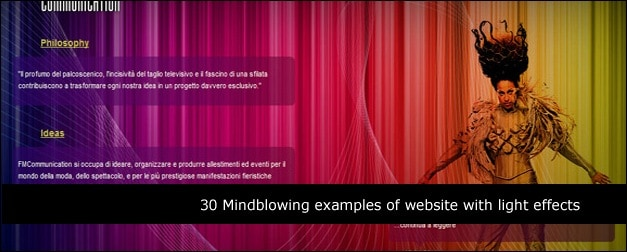 30 Mind Blowing Examples of Websites with Light Effects