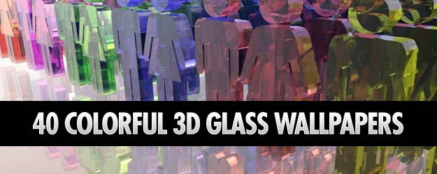 40 Colorful 3D Glass Wallpapers
