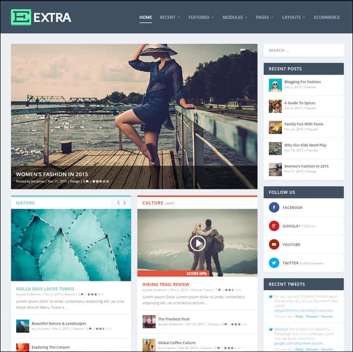extra wordpress magazine theme