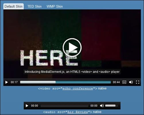 14 great jquery and html5 audio player showcase for Html5 video player template