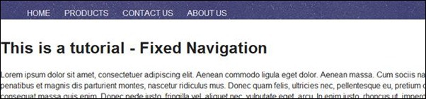 CODE Tips #1: How to Create Fixed Navigation