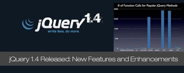 jQuery 1.4 Released: Sneak Peek on New Features and Enhancements