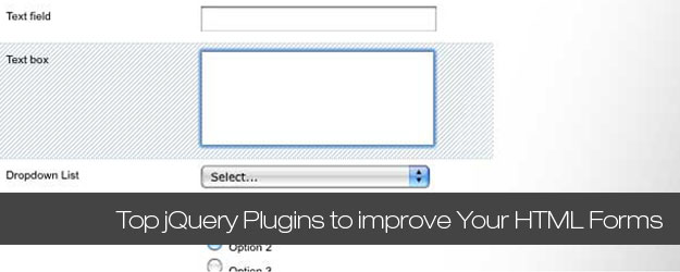 75+ Top jQuery Plugins to improve Your HTML Forms