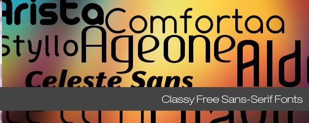 20 Classy Free Sans-Serif Fonts You Can't Live Without