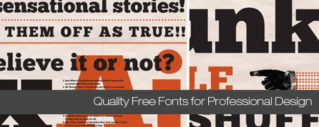25 High Quality Free Fonts for Professional Design