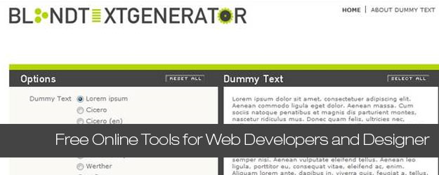 35 Extremely Useful Free Online Tools for Web Developers and Designer