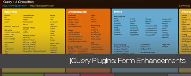 50+ jQuery Plugins for Form Enhancements