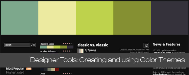 25+ Tools, Cheat Sheets and Inspiration for Designers working with Color Themes