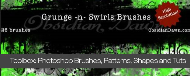 Huge Collection of Photoshop Brushes, Patterns, Shapes and Tuts