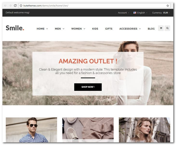 smile prestashop theme