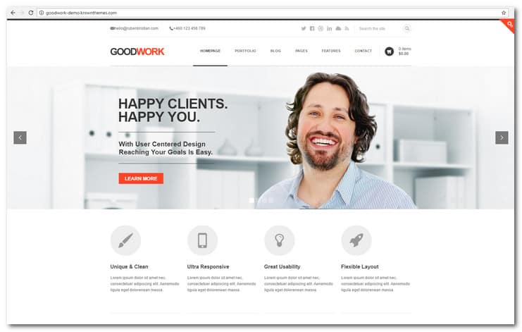 GoodWork - Modern Responsive Multi-Purpose WordPress Theme