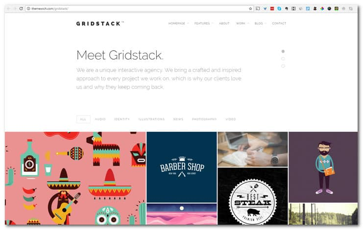 GridStack - Responsive Agency WordPress Theme