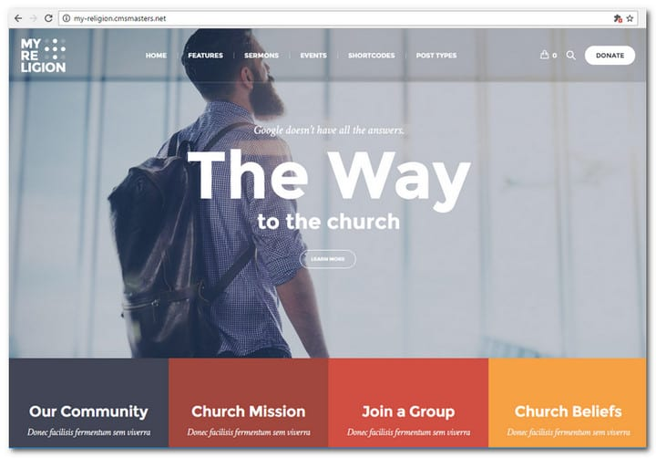 My Religion - Dedicated Church WordPress Themes