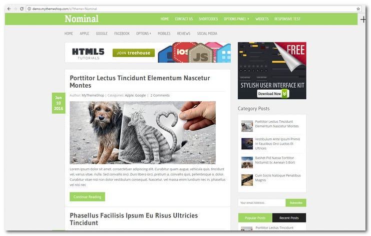 Nominal WordPress Blog Theme
