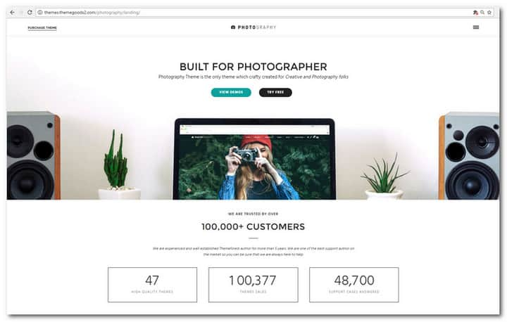 40 best photography website templates for wordpress in 2017