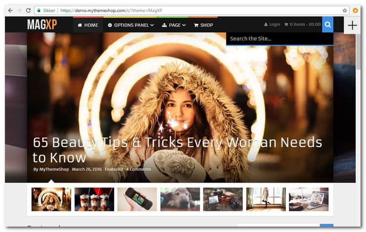 MagXP WordPress magazine theme