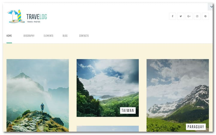 Picturesque Blog WordPress Theme