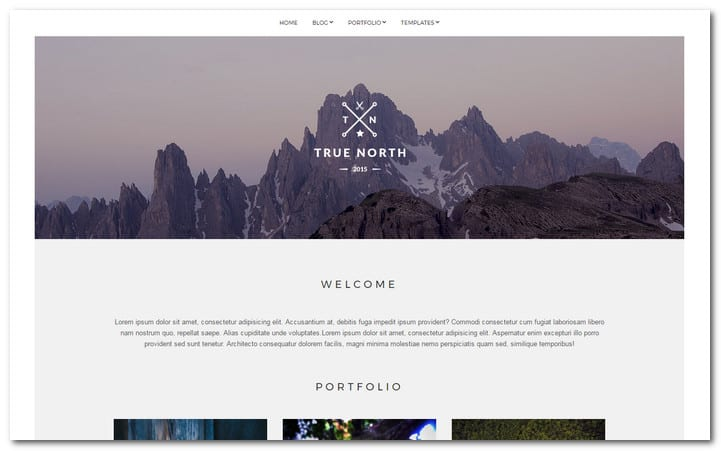 True-North wordpress photo theme