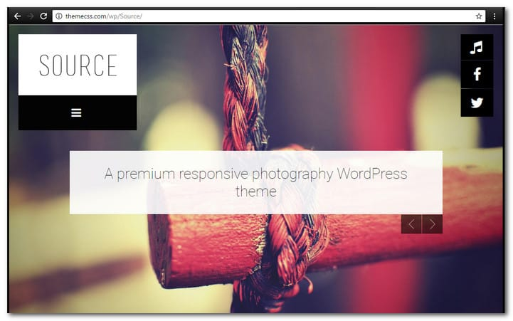 Source Responsive Photography WordPress