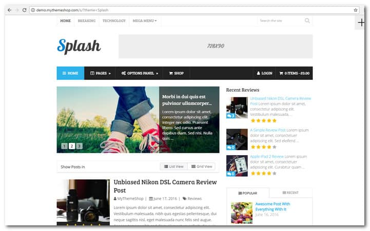15 responsive wordpress news themes to impress your for Wordpress splash page template