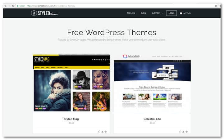 styledthemes free-wordpress-themes