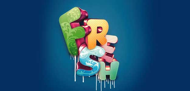 Fresh Typographic Effect